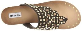 Not Rated Women's Black Studded Make It Rain Sandals image 6