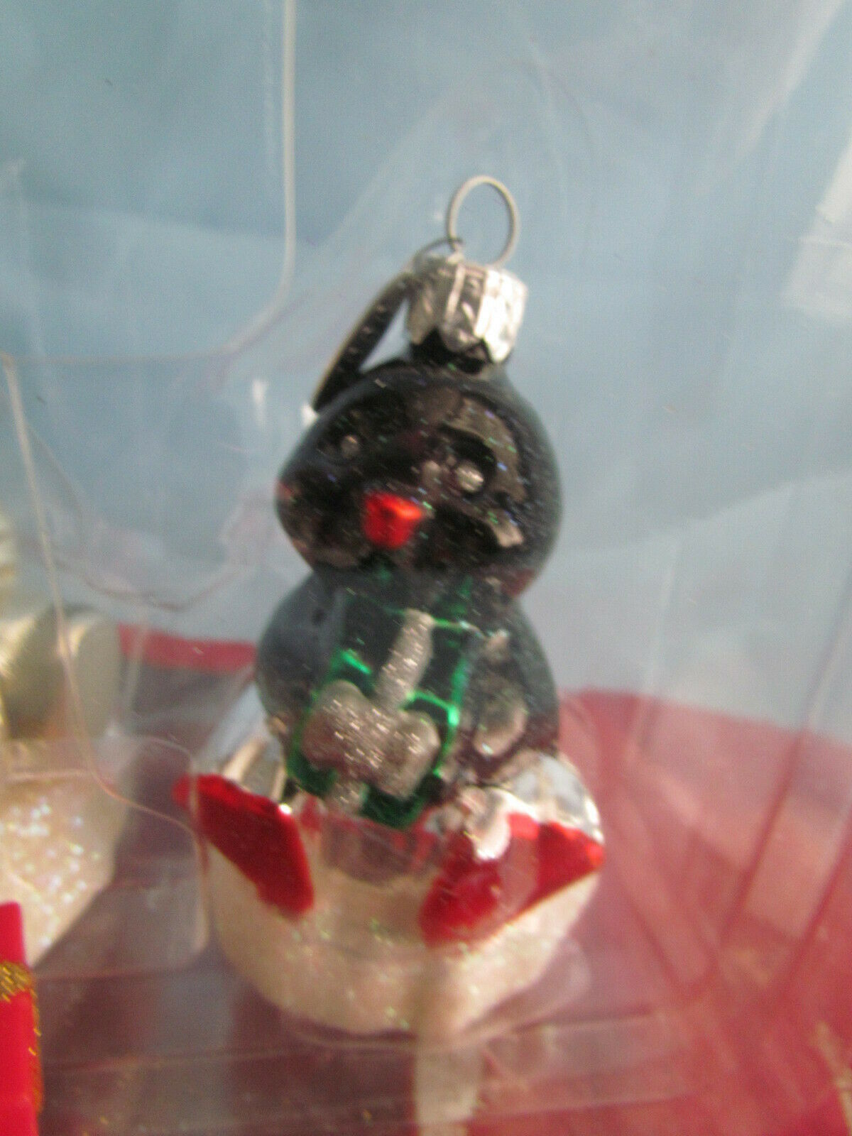 Two Frosty Friends Blown Glass Ornaments Hallmark Crown Reflections image 3