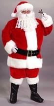 Fun World 8-Piece Plush Red White Santa Christmas Suit Costume Adult 58-60 - $148.24