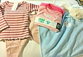NEW NWT Gymboree Carter's 3 Months Girl Pink Sets Bear Blanket Baby SecurIty - $24.95