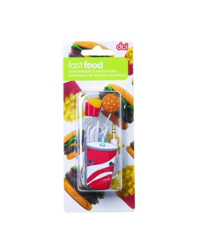 Primary image for Ear Buds & Cord Wrapper Set - Fast Food