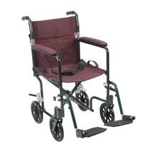 Drive Medical Flyweight Light Wheelchair Green/Burgundy 17'' - $179.07