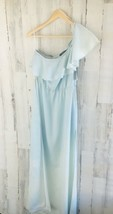 NWT $108 GUESS Light Blue Lyocell Denim-Like One Shoulder Maxi Dress S -... - $48.28