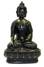 Seduto Buddha Effetto Pietra Giardino Outoor In... - $11.25