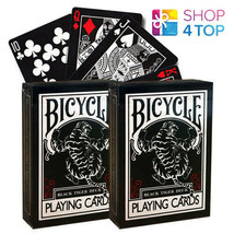 2 Decks Bicycle Black Tiger Ellusionist Red Pips Playing Cards Magic Tricks New - $18.14