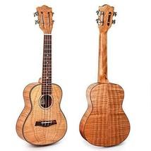 Kmise Konzert-Ukulele mit klassischem Gitarr(Tiger Flame Solid Okoume) - $68.40