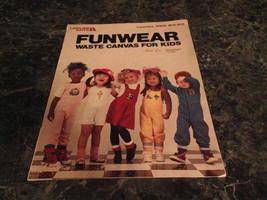 Funwear Waste Canvas for Kids by Terrie Lee Steinmeyer leaflet 589  cros... - $0.99