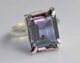 100% Color Change Lab Created Alexandrite 925 Solid Sterling Silver Hand... - $24.00