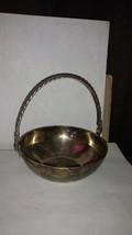 "4 1/2"" Handle Silver Tone Bowl Leonard Made in India - $21.25"