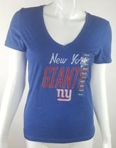 New York Giants Football NFL Team Apparel Womens Small V-Neck Tee Shirt NWT - $13.09