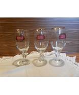 3  Gold Rim Stella Artois 12 oz Beer goblets w/Fill line - $24.55
