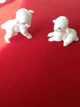 REDUCED! Vintage Lefton Easter Spring lamb figurines - $26.50
