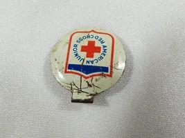 VTG American Red Cross Junior Pin ARC Shield Logo Fold Over Tab Pin lapel - $17.82