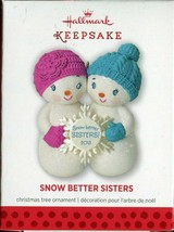 2013 Hallmark Ornament - Snow Better Sisters - Glittery Snowmen with Sno... - $5.93