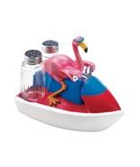 *18237B  Pink Flamingo Jet Skiing Figure Salt & Pepper Shakers - $17.35
