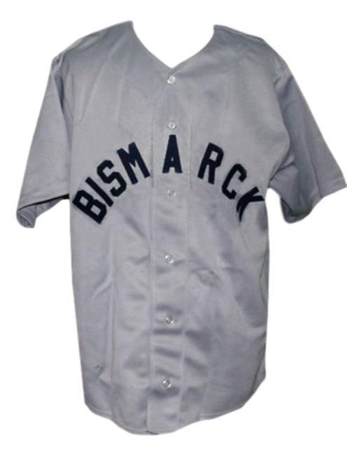 Bismarck churchills retro baseball jersey 1935 button down grey   1