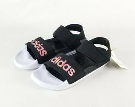 Adudas Womans Adilette Black/Pink/White Sport Swim Sandal Sz 6 New  FY8165 - $31.91