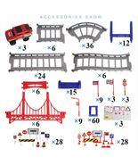 Educational Toys 257 pcs DIY Track Car Diecasts Vehicles Rail Car Road A... - $34.87
