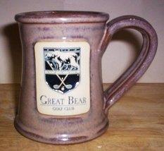 DENEEN POTTERY MUG- GREAT BEAR GOLF CLUB, STROUDSBURG, PENNYSLVANIA - $14.95