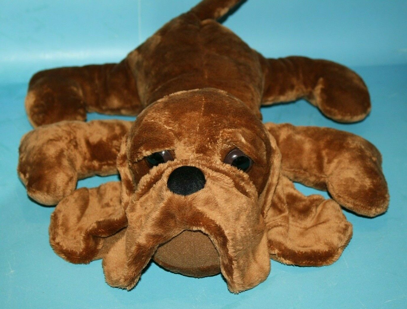 "Primary image for Tri Russ Stuffed Animal GUS DOG 16"" Bloodhound Hound Brown Plush Soft Toy 49079"