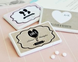 Personalized Vintage Mint Bridal Baby Shower Wedding Favor 25-50-96-150-200 - $47.03+