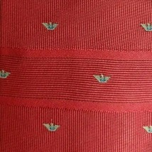 Burgundy Logos Allover ARMANI Silk Tie - $7.99