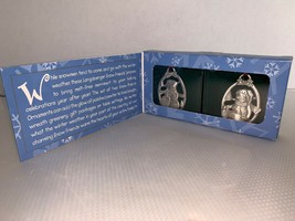 Longaberger Snow Friends Pewter Ornaments Box of Two #72800 1999 (1) - $7.50