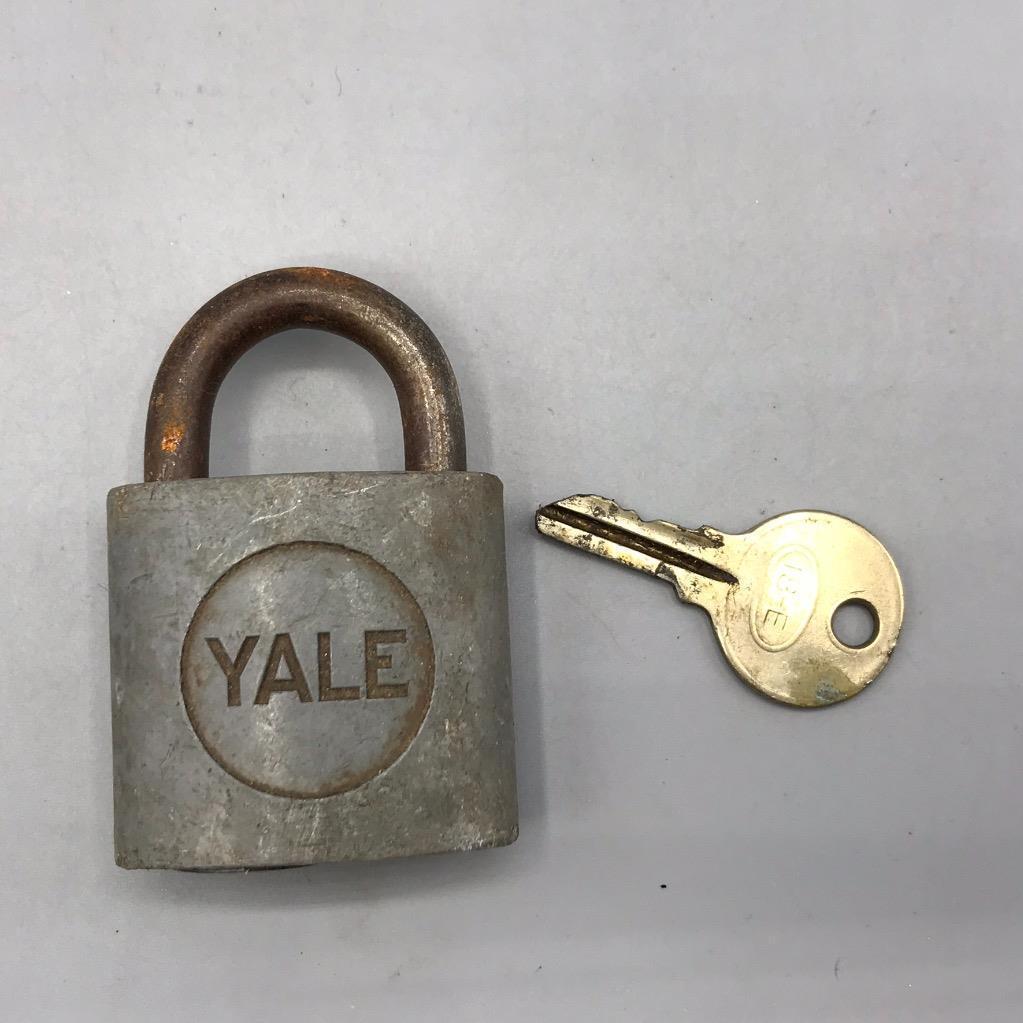 Vintage Yale Br Padlock Lock With