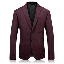 "2017 autumn men""s fashion casual red blazers men coats jacket classics b... - $79.50"