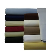 Abripedic Sateen Solid Sheets, 600-Thread-Count 3PC Bed Sheet Set, 100-P... - $65.06