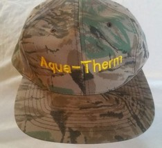 Aqua-Therm Hat Cap Snapback Camouflage Plumbing Hunting Fishing Sports  - $8.79