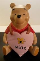 "Disney ""Pooh and Friends"" Porcelain Figurine Bee Mine Pooh Valentine - $12.85"