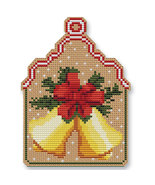 Christmas Bells Ornament Kit cross stitch Colonial Needle  - $13.50