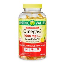 Spring Valley Omega-3 Fish Oil Soft Gels, 1000 mg, 180 CounT. - $28.70