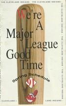 VINTAGE 1991 CLEVELAND INDIANS MLB POCKET SCHEDULE - KELLOGG'S- BASEBALL - $1.79