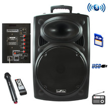 beFree Sound 15 Inch Bluetooth Powered Portable PA Speaker - $183.79