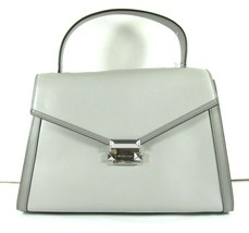 Michael Kors NEW $348 Gray Satchel Hand Bag Top Handle Large Flap Snap Leather X - $127.71
