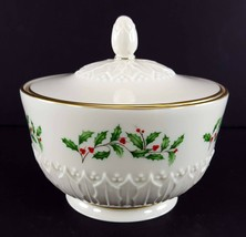 "LENOX China Holiday Dimension Sculptured Candy Jar with Lid 3-3/8"" Dinne... - $24.74"