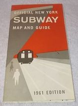 Official New York City Subway Map and Guide 1961 Authentic Original  - $24.95