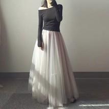 White Long Tulle skirt White Bridal Tulle Skirt High Waisted White Tulle Skirt image 7