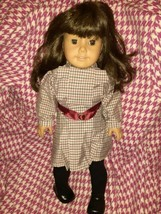 "American Girl  Samantha 18"" Doll Brown Hair Brown Eyes Pleasant Company Vintage - $158.40"