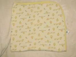 Little Me Duck Baby Blanket Yellow Duckling Orange Security Lovey Swaddle Jersey - $16.82