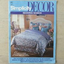 Simplicity DECOR Bedding Basics Sewing Booklet Pillow Comforter Duvet Vintage 93 - $19.75