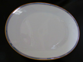 """Rosenthal Gala Blue CLASSIC ROSE Oval Platter 15 3/8"""" Loewy Mid Century - $48.99"""
