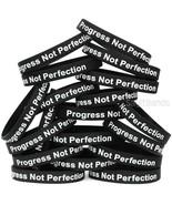20 Progress Not Perfection Wristbands, Motivation Inspiration Recovery B... - $20.67
