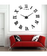 Classic Roman Numeral 3D DIY Large Number Analog Wall Clock - $64.95