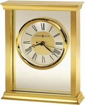 "Nice Table Mantel Clock 7.25""x6"" Metal Gold & Silver Toned Luxury Roman ... - $155.00"