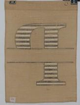 Kate Winston Brand Brown Burlap Monogram Black White P Garden Flag image 2