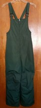 Lands End Boys Girls Bib Ski Snow Pants Size 12 Forest Green Insulated  - $21.99