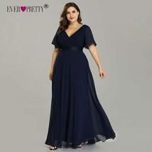 Plus Size Evening Dresses Ever Pretty EP09890 Elegant V-Neck Ruffles Chi... - $47.99
